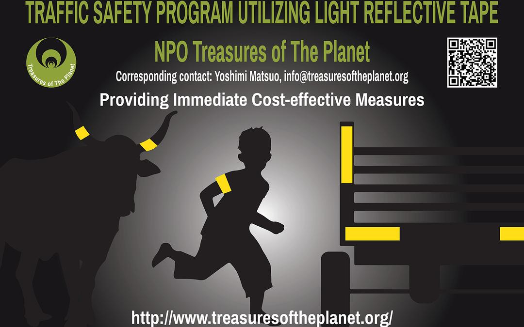 TRAFFIC SAFETY PROGRAM UTILIZING LIGHT REFLECTIVE TAPE
