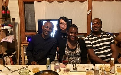 Researchers from Africa working at the Nagasaki University Global Health